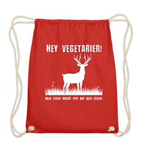Hochwertige Baumwoll Gymsac - Hey Vegetarier! (Hey T-shirt Roten Hey)