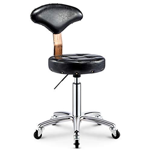 Qi Peng- Beauty Chair Bar Chair Stuhl Front Chair Drehbarer Bar Chair Lift Barhocker Friseurhocker Mit Rückenlehne Barhocker (Farbe : B)