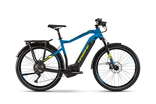 Haibike Sduro Trekking 9.0 Pedelec E-Bike Fahrrad schwarz/blau/gelb 2019: Größe: M
