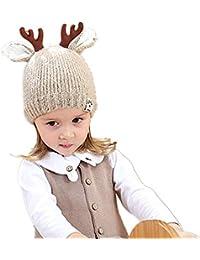 DOTBUY Bébé Bonnet Tricoté, Chaud Automne-Hiver Garçons Filles Enfants Chapeau  Mignon Élasticité 0 e7a3fe43651