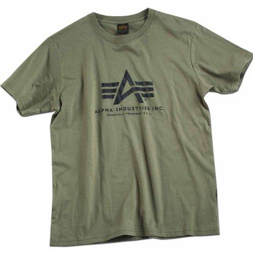 Alpha Industries Herren Regular Fit T-Shirt Basic T-Shirt Grün - vert olive