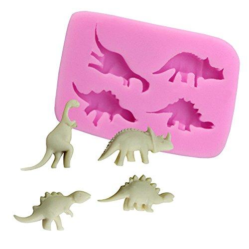 Beiersi Dinosaurier Silikon Form für Fondant Marzipan Tortendeko Ausstecher Seife Dekoration Werkzeug (Stil - Dinosaurier-kuchen-form