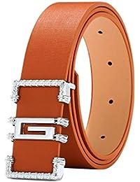 SALLYDREAM Cinturón de Cuero Casual de Estilo de Moda, Destinado a Hombres Guapos y Mujeres Elegantes