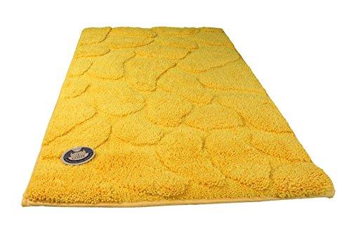 Alfombra de baño amarilla de microfibra de poliéster (50x70 cm)