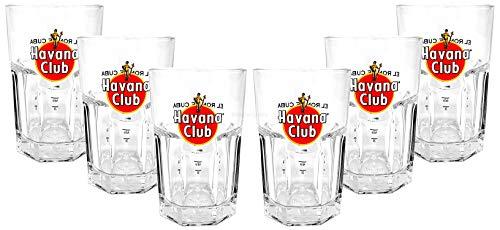 6 x Havana Club Glas / Gläser Rum Tumbler Longdrink Cocktail Gastro Bar Deko + Flaschenausgiesser