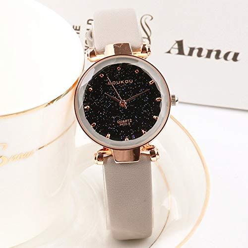 Mädchen Uhr Indie Pops Frauen Uhr Armbanduhr Mode Schwarz Stern Leder Lady Uhr Für Frau Grau