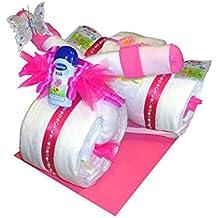 Windeltorte Mädchen Geschenk zur Taufe Geburt Kinderparty Dreirad