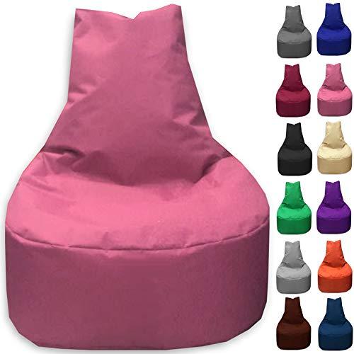 Sitzbag Sitzsack Sessel XL - XXL für Kinder und Erwachsene - In & Outdoor Sitzsäcke Kissen Sofa Hocker Sitzkissen Bodenkissen (XXL - 80cm Durchmesser, Pinkrosa)
