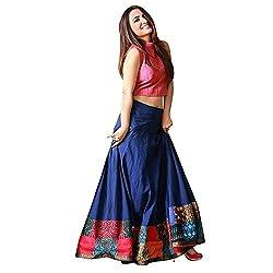 Clickedia Womens Taffeta Silk, With Blouse Piece,Semi Stitched Lehenga Choli