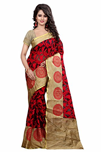 Saree (Ganesh Creation Women\'s Brasso Net saree)