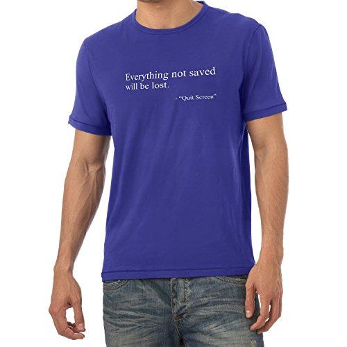 TEXLAB - Everything not saved will be lost - Herren T-Shirt Marine