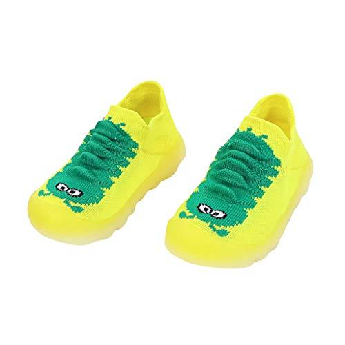 squarex  Mädchen Sportschuhe Jungen Cartoon Niedliche Kleinkind Freizeitschuhe Kinder Gestrickte Atmungsaktive Schuhe Caterpillar niedliche Babyschuhe
