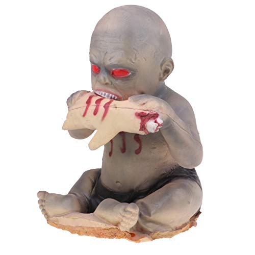 Fenteer Kreative Zombie Geister Baby Puppe Für Halloween Requisiten Party Ornamente - A