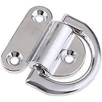 Augplatte mit Ring 65x40 mm OPIOL QUALITY Wand-Haken Ringplatte Mastplatte 5 St/ück | Edelstahl A2 /Ösenplatte Decksbeschlag Decken-Befestigung