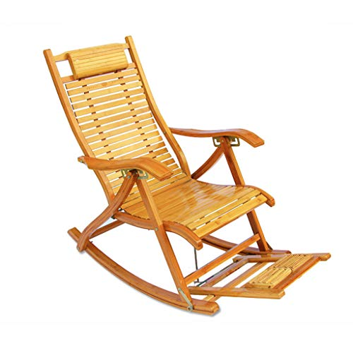 Plegable Lunch Break Lounge Chair Bamboo Recliner Old Man Nap Silla Me