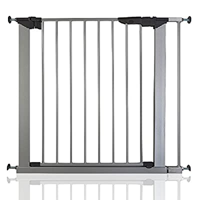 Safetots No Screw Stair Gate Silver All Widths (79.6cm - 86.5cm)