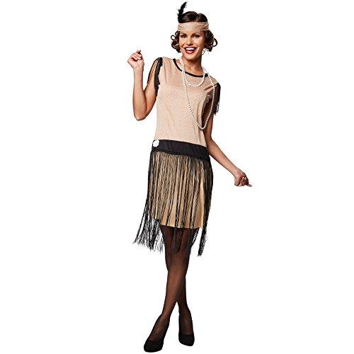 Jungs Jahre 20er Kostüm - TecTake dressforfun Frauenkostüm Swing | Schönes Kleid im 20er Jahre Stil | Inkl. Haarband (XL | Nr. 301608)