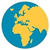 IamEngland Erdkugel Europa-Afrika Emoji Metall Zeichen