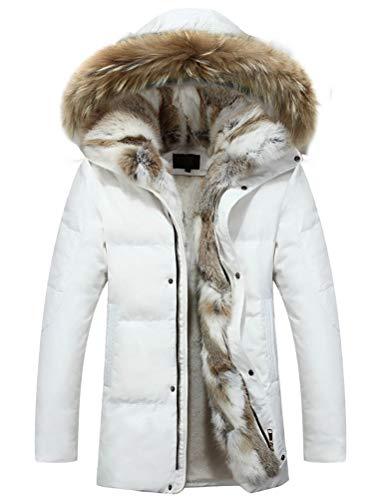 Robo piumino giubbotti con cappuccio da uomo cappotti impermeabile parka fodera con pelluche invernale it xs-xl