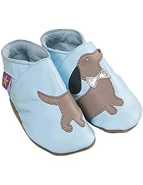 Diseño de perro chica estelar Daschund Daxie salchicha de para bebés de color azul de piel con tapa para bebés...