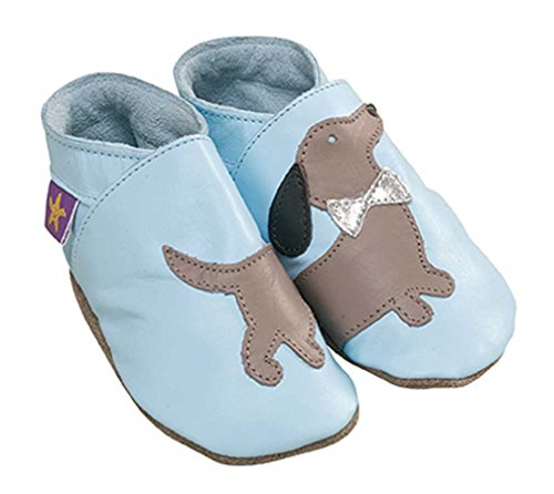5 Uk Starchild tamanho De Macio Couro Eu Meses 22 Bebê Bebê Sapatos 18 12 Azul Daxie 6HqxxaZ