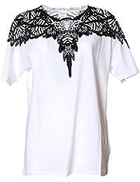 Marcelo Burlon Femme CWAA016S170473650110 Blanc/Noir Coton T-Shirt