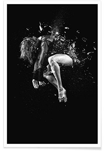 """Preisvergleich Produktbild JUNIQE® Poster 60x90cm Schwarz & Weiß Tanzen - Design """"Dance, Dance, Dance 20"""" (Format: Hoch) - Bilder, Kunstdrucke & Prints von jungen Künstlern entworfen von Günther Egger"""