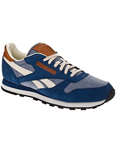 Reebok Classic Leather Chambray, Sneakers da Uomo Bleu