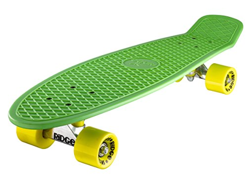 Ridge 27' Big Brother Mini Cruiser Skate Skateboard Retro Vintage completo nel Verde, fatto in l'UE, cuscinetti ABEC 7, alta qualità formula segreta di plastica