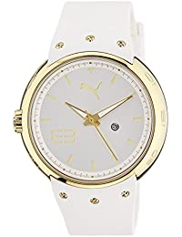 Puma Motorsport Hero - Small 3HD Unisex Quartz Watch with White Dial Analogue Display and White Silicone Strap PU103042002