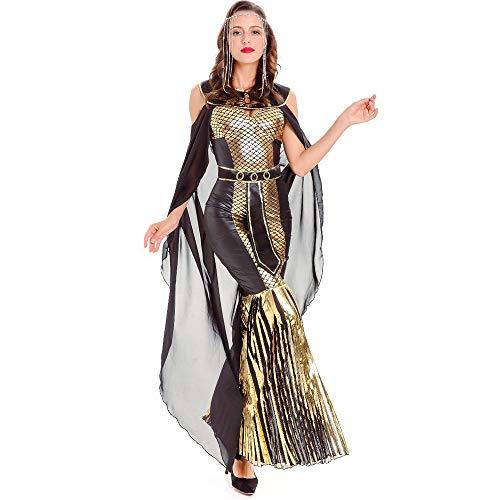 Göttin Ägyptische Sexy Kostüm - Chengzuoqing-CL Halloween Damenkostüme Ägyptische Schlange glamourösen Halloween-Kostüm Damen sexy Mantel Göttin Party anziehen (Größe : M)