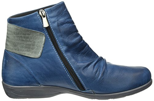 Andrea Conti 0342751, Bottes Classiques femme Bleu - Blau (Blau/Grau 203)
