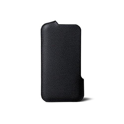Lucrin - Fourreau iPhone 7/6/6s - Fuchsia - Cuir de Chèvre Noir