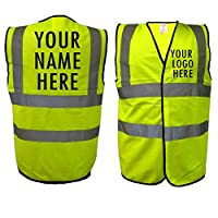The World Of Wall Art Personalised Printed High Visibility, Hi-Vis, High-Viz Safety Waistcoat Vest