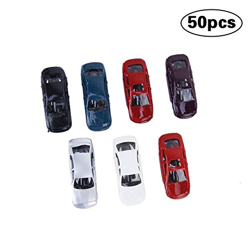 CDKJ 50Pcs Painted Model Cars 1: 150 Scale Gauge N for sale  Delivered anywhere in UK