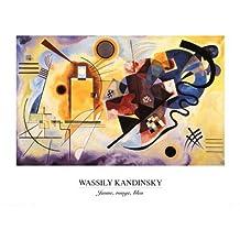 Lámina 'Amarillo, rojo, azul, c.1925', de Wassily Kandinsky, Tamaño: 50 x 40 cm