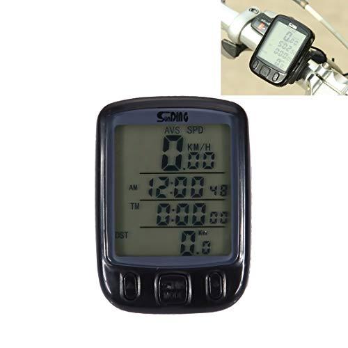 Fahrradausrüstung Multifunktions-LCD-Bildschirm grün Hintergrundbeleuchtung Modus wasserdicht Fahrradcomputer Kilometerzähler Tachometer, Größe: 5,5 * 4 * 2 cm Sicher und praktisch