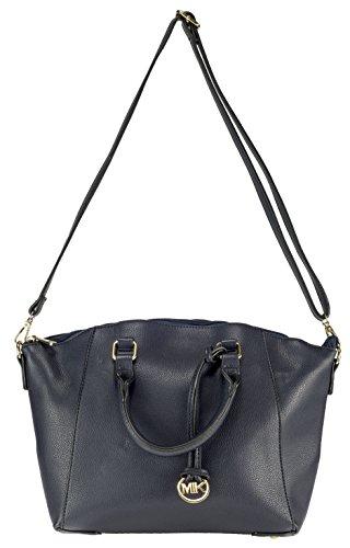 MIK Glamour Trendy Elegante Damen Schultertasche Handtasche PU-Ledertasche Grob (Blue)
