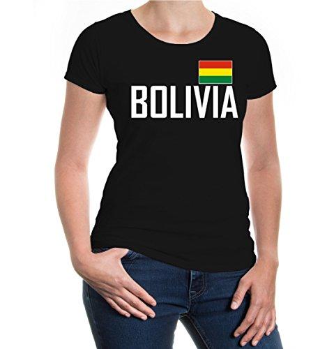 buXsbaum® Girlie T-Shirt Bolivien Black-