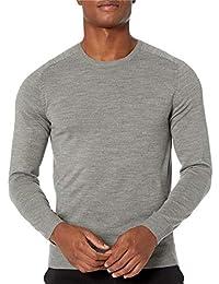 Marca Amazon - Peak Velocity Jersey Merino Cuello Redondo - pullover-sweaters Hombre