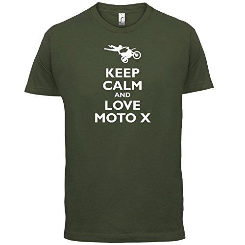 Keep Calm and Love Moto X - Herren T-Shirt - 13 Farben Olivgrün