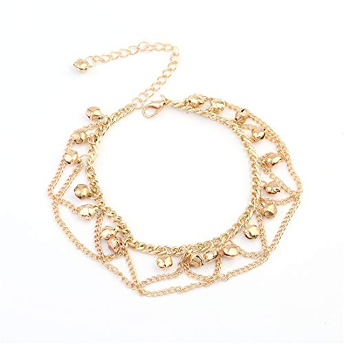 d Amerika persönlichkeit Mode böhmischen Stil Welle quaste Glocke fußkettchen 3 stück Mode-Accessoires Damenketten ()