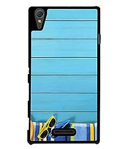 Fuson Designer Back Case Cover for Sony Xperia T3 (Wood Lakadi Antique Fashion Beer Dark Grey )