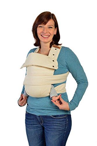Marsupi Baby und Kindertrage I kompakte Bauch und Hüfttrage I S/M I natur/natural I genial einfach