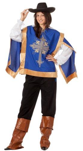 R-Dessous hochwertiges Damen Musketierkostüm Ritter Outfit für Halloween und Karneval Groesse: S/M