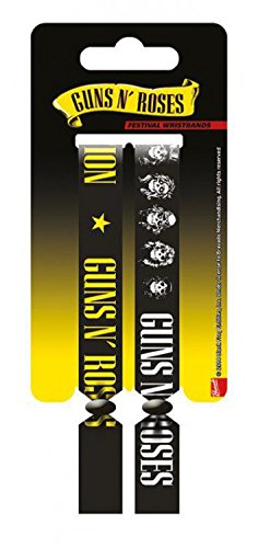 Guns N' Roses - Festival Wristbands, Set Di 2 10mm Wristbands Braccialetto (10 x 2cm)