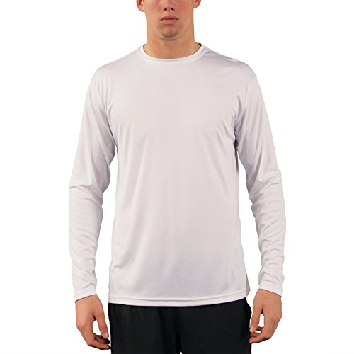 Vapor Apparel Herren UPF 50+ UV Sonnenschutz Langarm Performance T-Shirt X-L Weiß