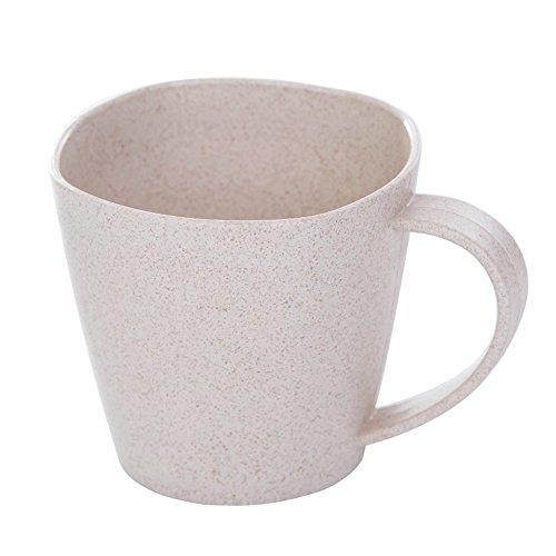 FiedFikt Becher Wasserbecher Saftbecher Milchkaffeetasse Badezimmer leicht aufzubewahren Zahnbürstenbecher Zahnbürstenbecher Zahnputzbecher Mundbecher Anti-Heiß,Weizenstrohhalm a - Kleine Mädchen Tee-set Schrank