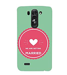PrintVisa Designer Back Case Cover for LG G3 S :: LG G3 S Duos :: LG G3 Beat Dual :: LG D722K :: LG G3 Vigor :: LG D722 D725 D728 D724 (Just Married Quote)