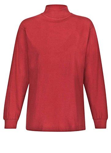 adonia mode Damen Shirt mit Stehkragen Langarm , Gr.32/34 - 48/50 , 2 Farben zur Auswahl Rot